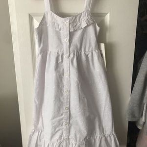 NWT Girls White Dress Size 6